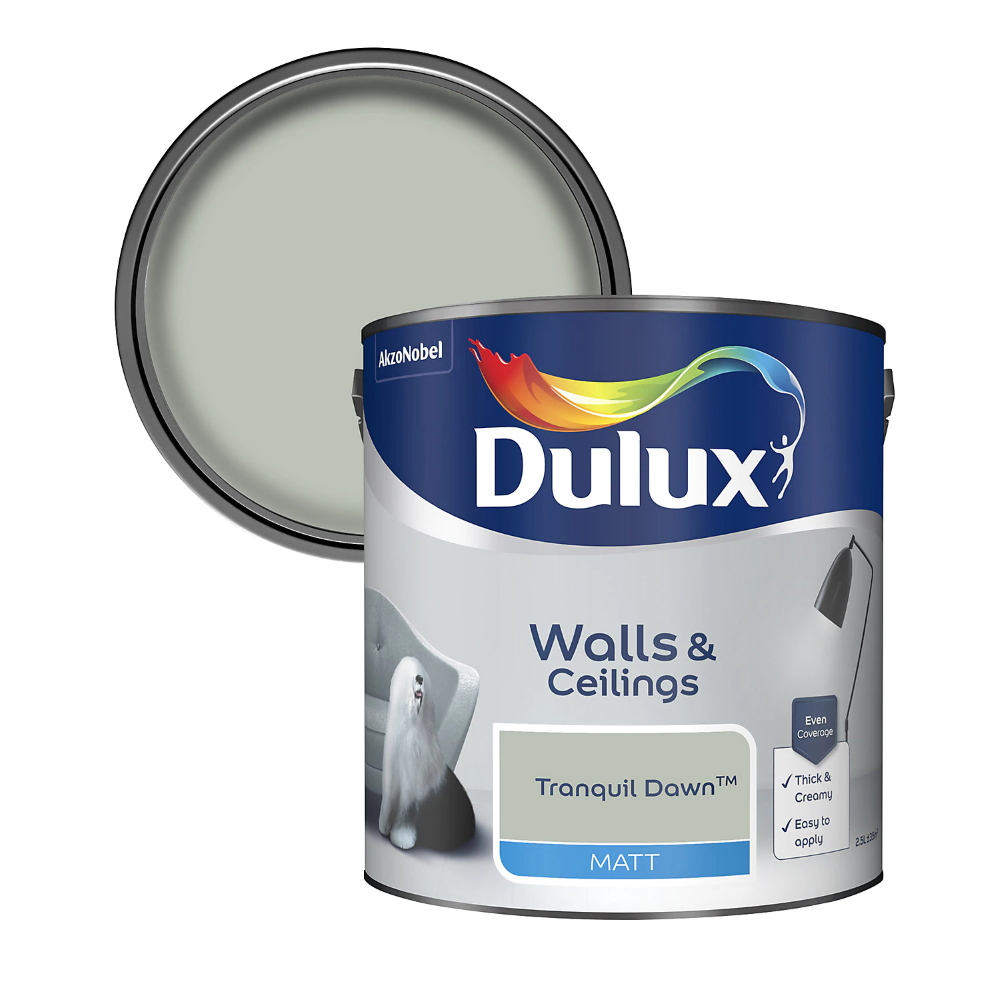 Dulux Walls and Ceilings Tranquil Dawn paint can