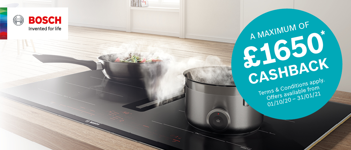 £1650 Cashback on Bosch Appliances
