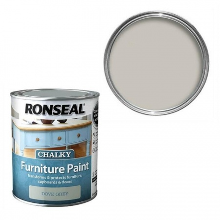 Ronseal Chalky Furniture Paint Dove, Grey Chalky Furniture Paint